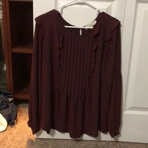 Loft Red/Burgundy Long Sleeve
